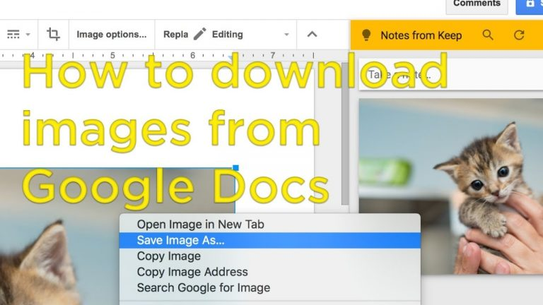How to Download Images from Google Docs