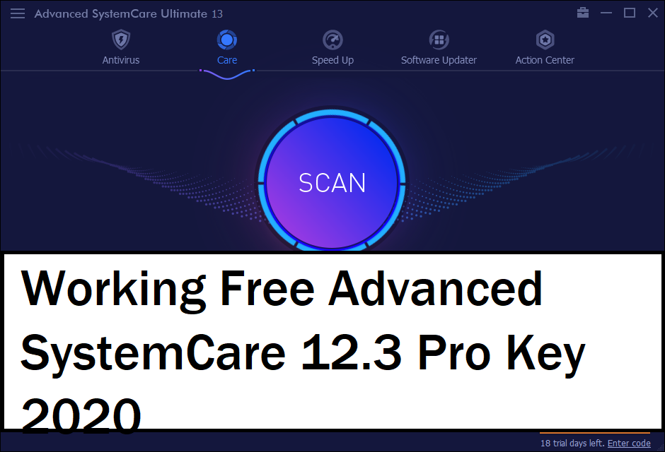 Advanced SystemCare 12.3 Key