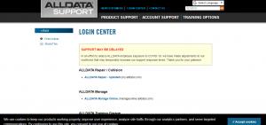AllData Support Login